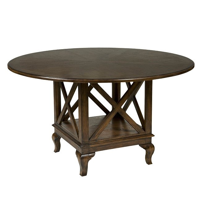 Crossroad Round Dining Table Set By Standard Furniture, 1