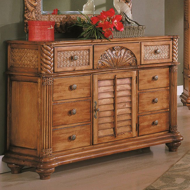 Palm Court Triple Dresser (Island Pine)