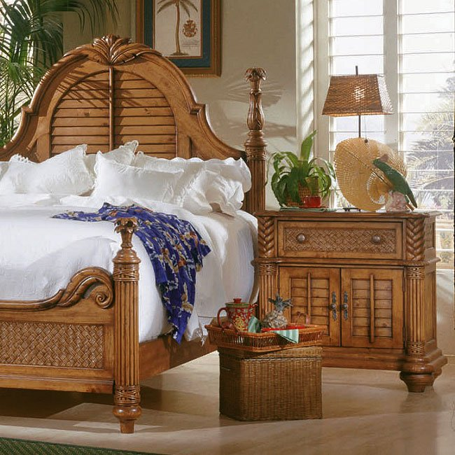 Attrayant Palm Court Nightstand (Island Pine)