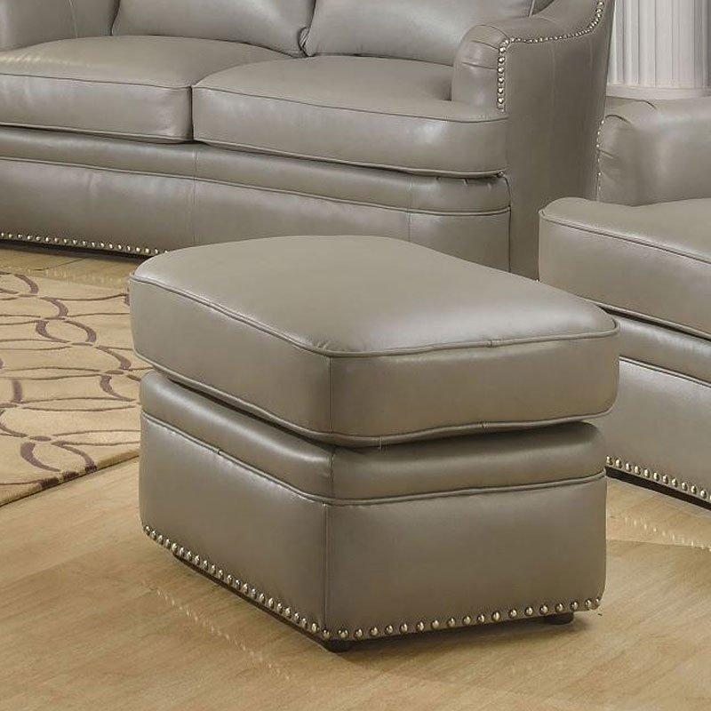 Tulsa Leather Ottoman Ottomans Living Room Furniture
