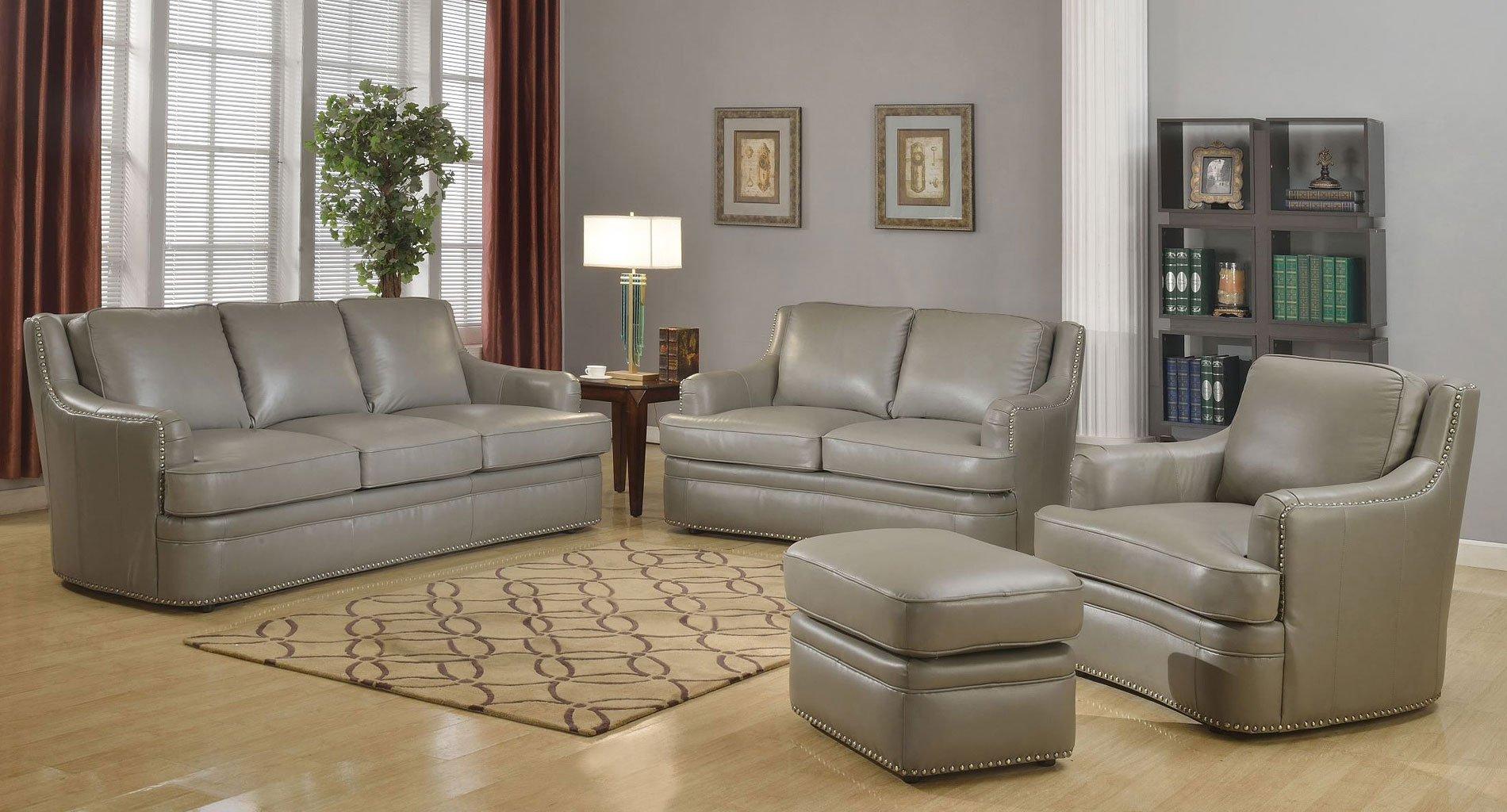 Tulsa Leather Living Room Set Leather Italia Furniturepick