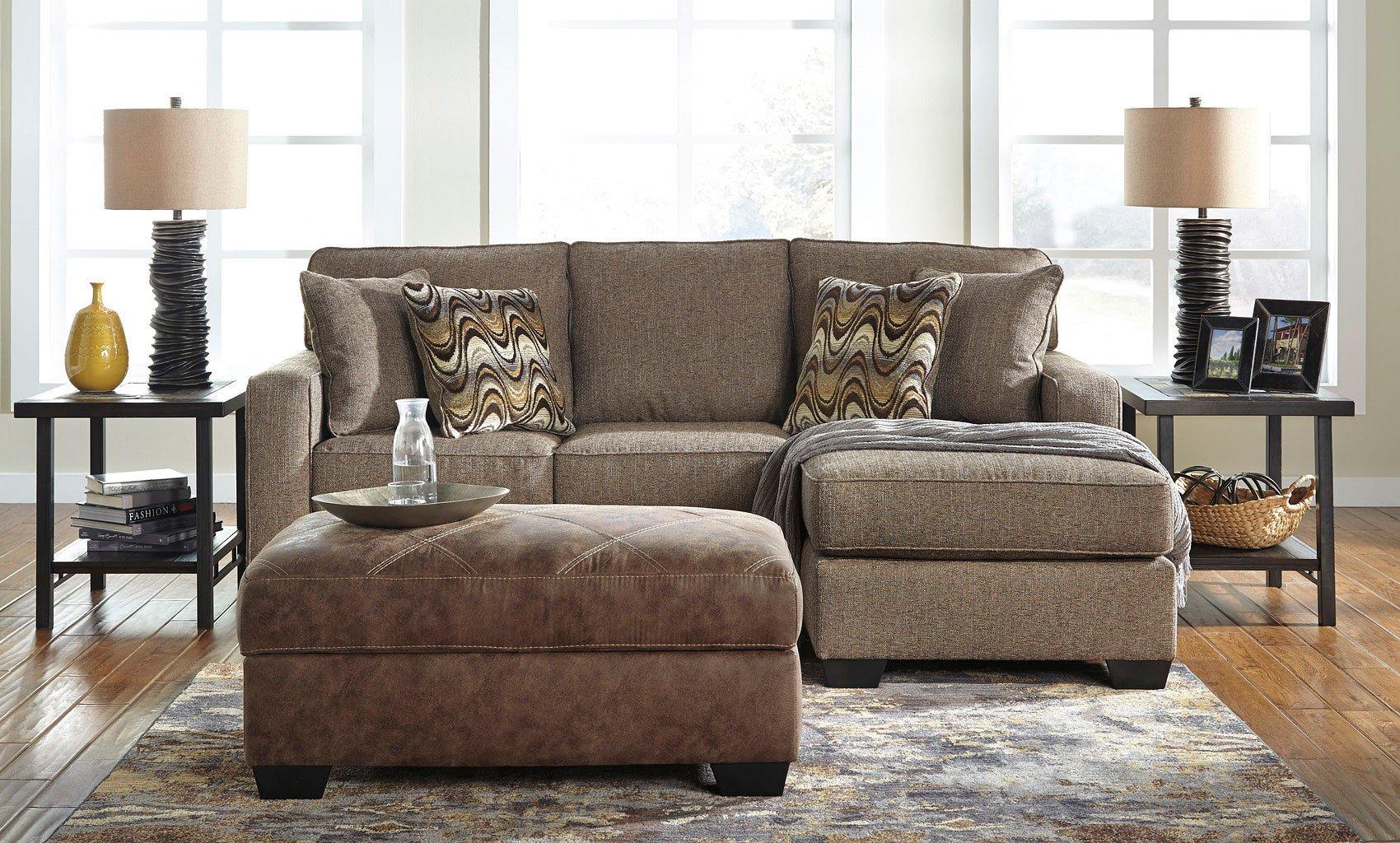 Tanacra Tweed Sofa Chaise Set