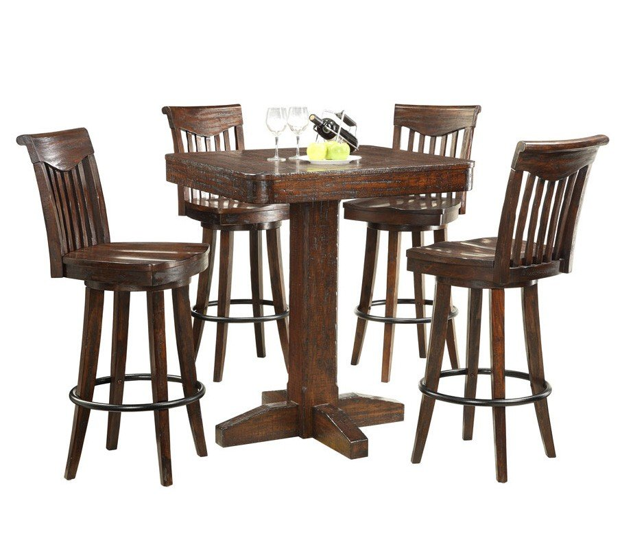 gettysburg pub table set  bistro and bar table sets