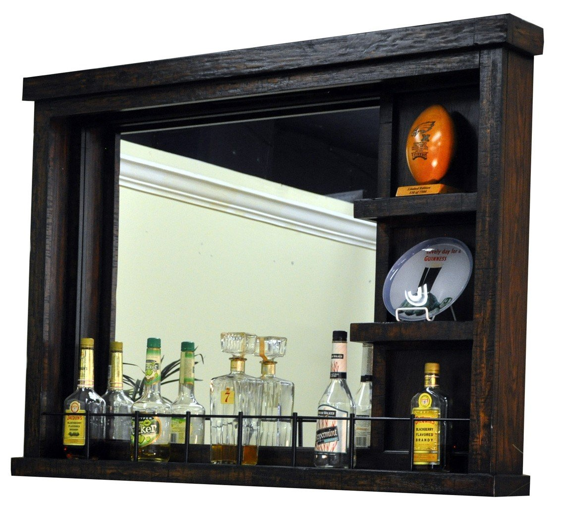 Gettysburg Wall Bar With Mirror Bar And Wine Cabinets