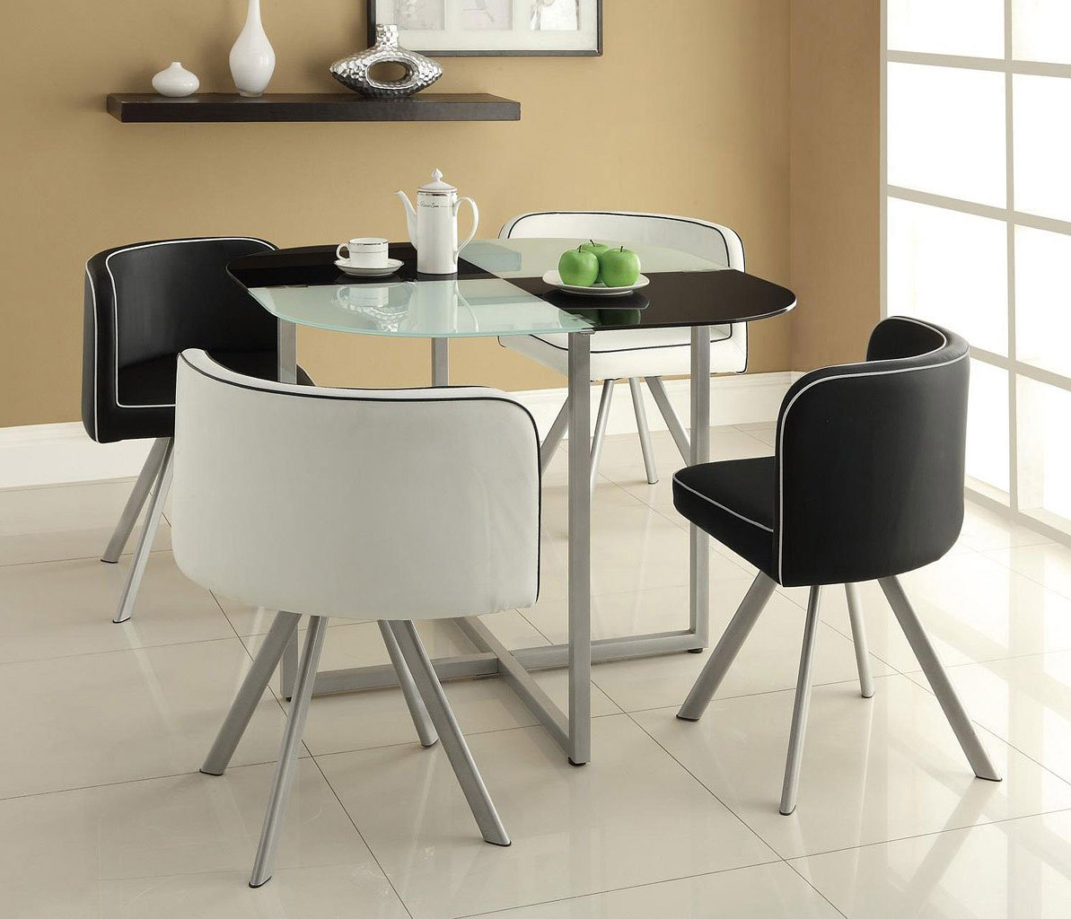 Dining Room Sets 5 Piece: Trussell 5-Piece Dining Room Set By Coaster Furniture