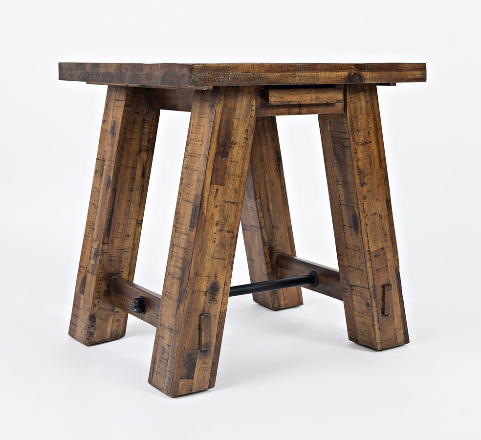 Cannon Valley Trestle End Table By Jofran Furniture