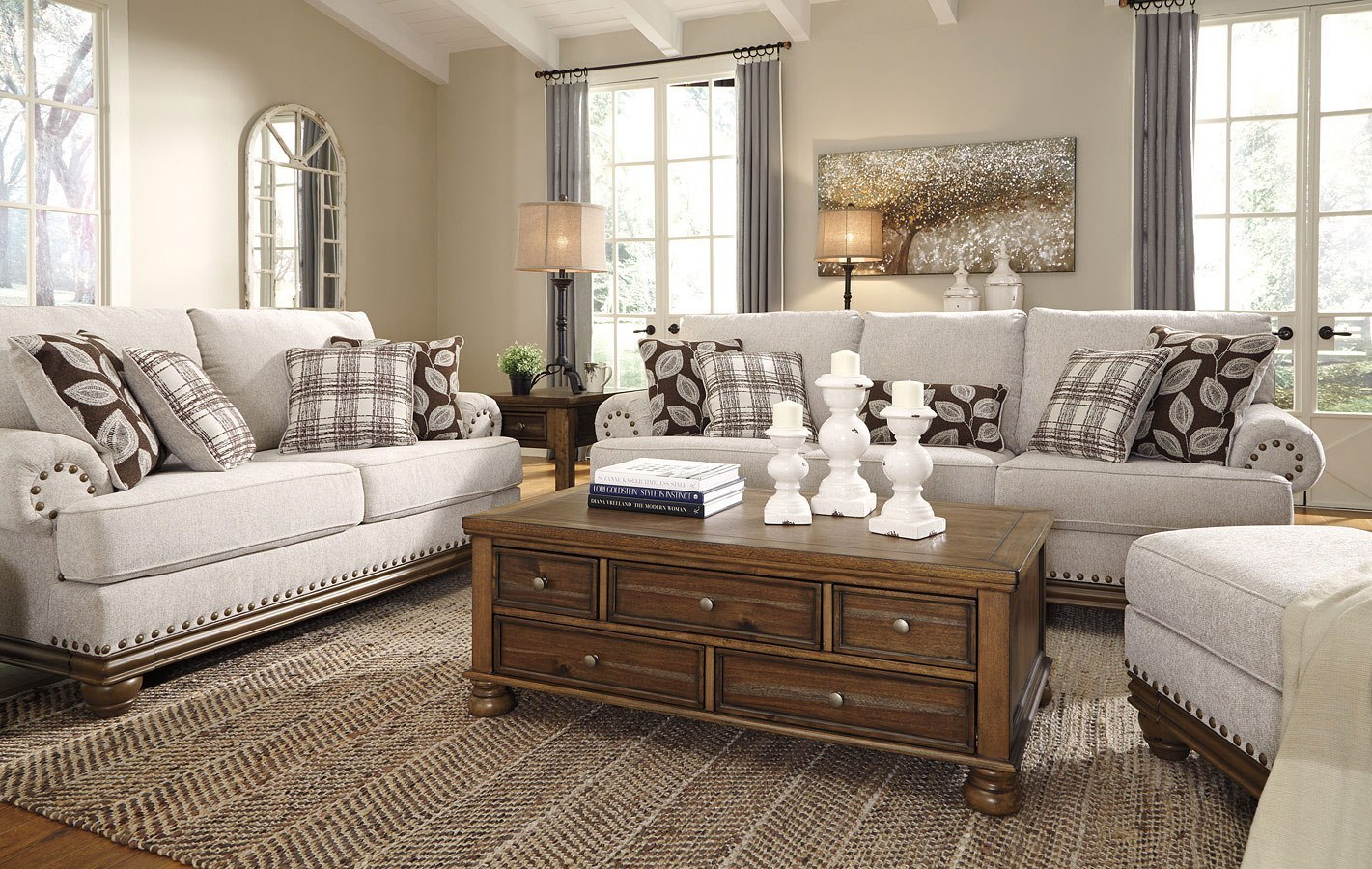 Harleson Wheat Living Room Set By Signature Design By