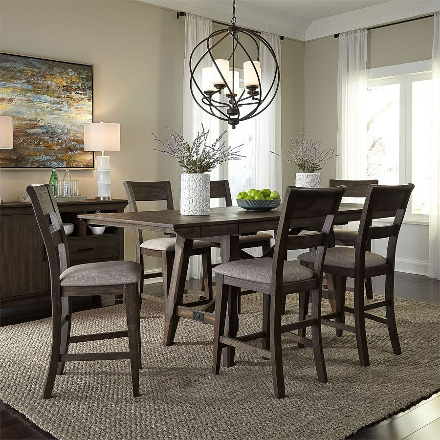 Double Brindge Counter Height Dining Room Set By Liberty Furniture