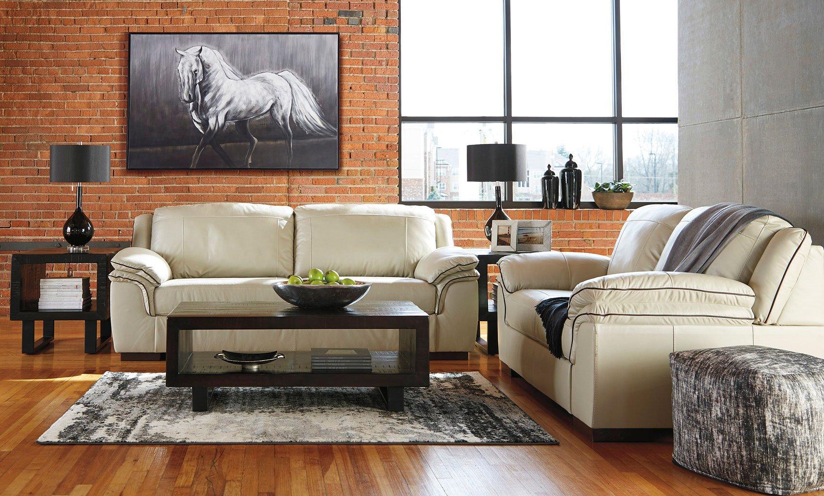 Islebrook Vanilla Living Room Set By Signature Design By