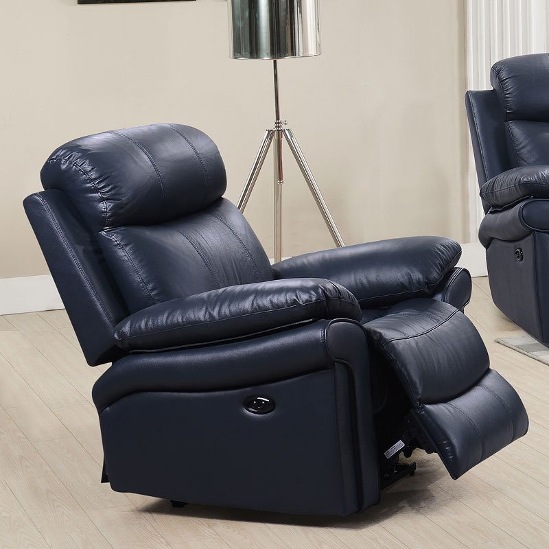 Joplin Power Reclining Chair (Navy)