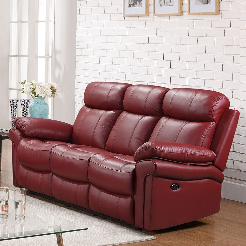 Joplin Power Reclining Sofa (Red)