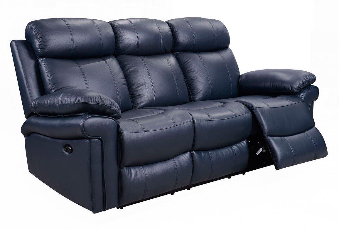 Terrific Joplin Power Reclining Sofa Navy Ibusinesslaw Wood Chair Design Ideas Ibusinesslaworg