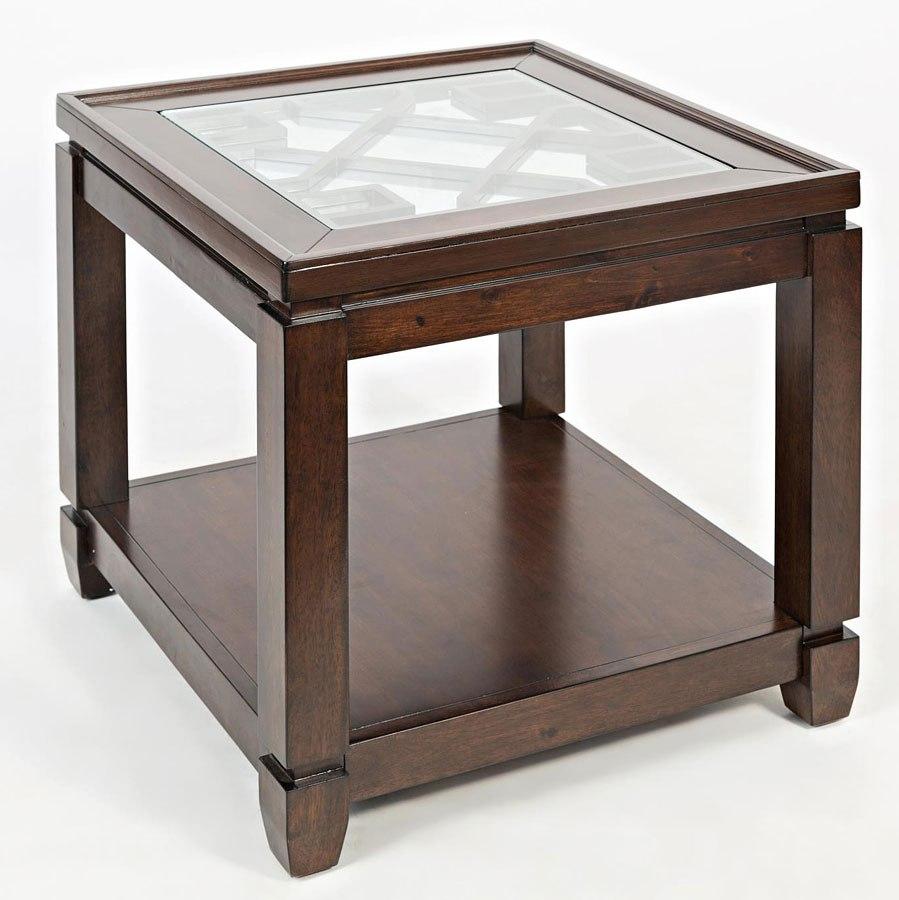 Casa Bella Mirrored End Table (Cherry)