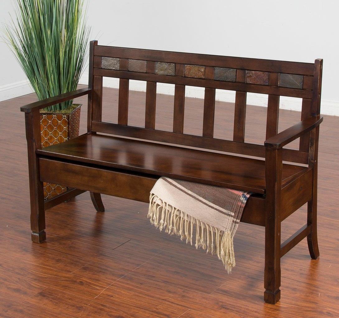 Santa Fe Bench W/ Storage By Sunny Designs | FurniturePick
