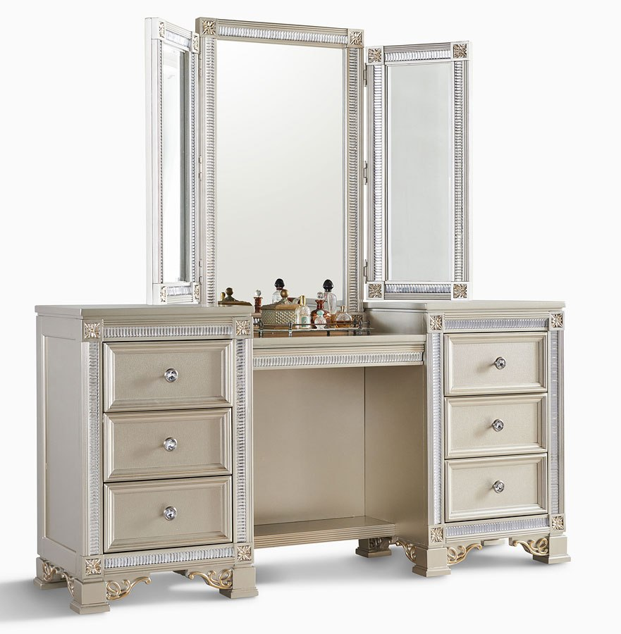 Tiffany Vanity With Mirror By Oasis Home