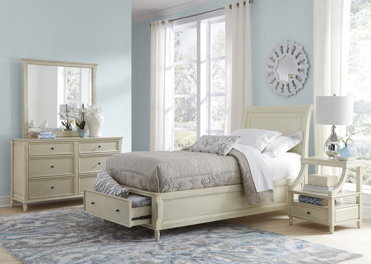 Avignon youth storage bedroom set ivory by jofran - Youth bedroom furniture with storage ...