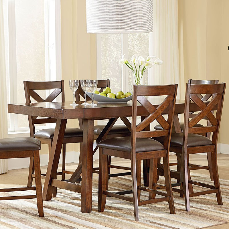Omaha counter height dining table brown room
