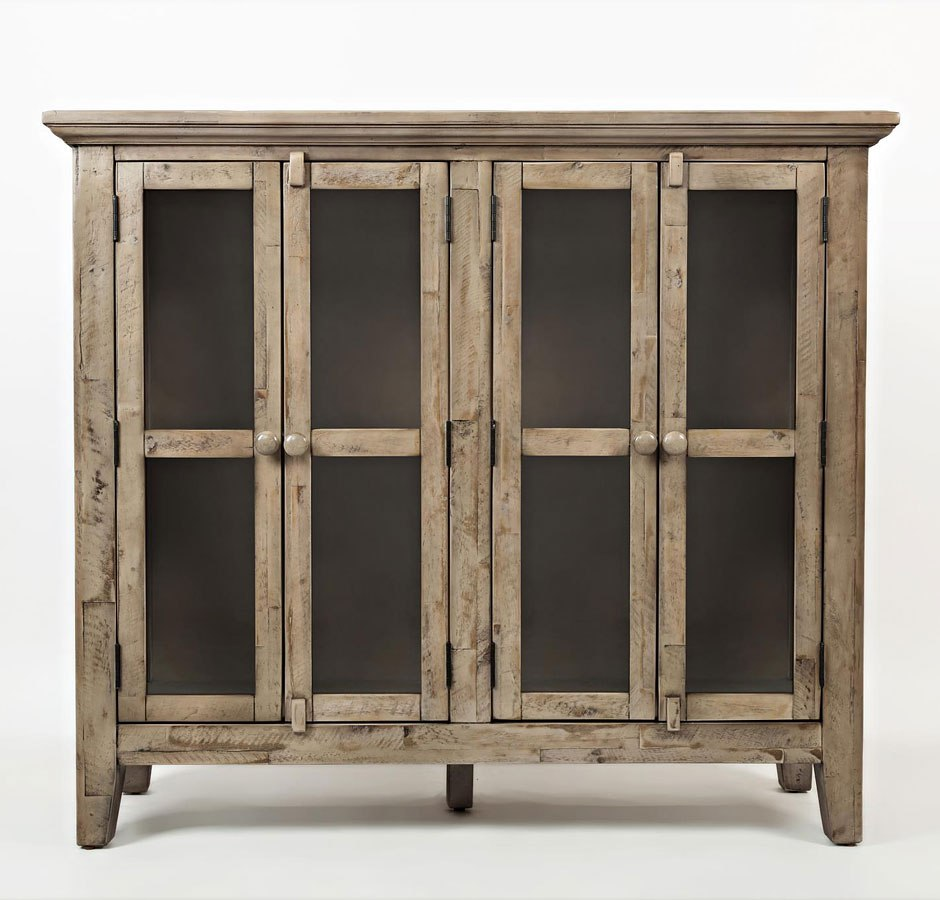 Rustic Shores 48 Inch Accent Cabinet Weathered Grey By