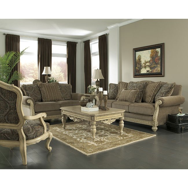 Parkington Bay Platinum Living Room Set By Signature Design By