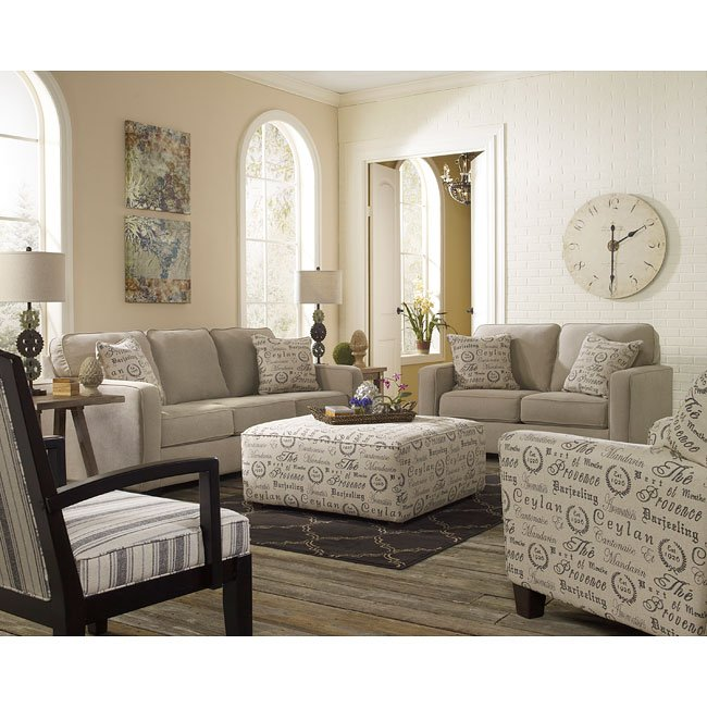 Alenya Quartz Living Room Set By Signature Design By