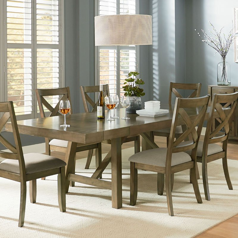 Omaha dining table grey dining tables dining room for Gray kitchen table and chairs