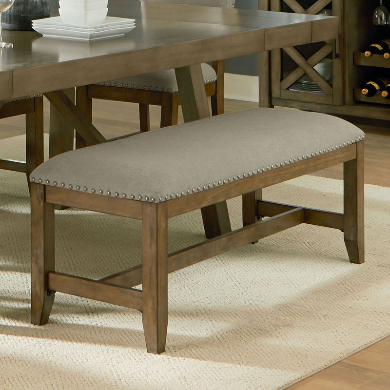 Kitchen Table Omaha: Omaha Upholstered Bench (Grey) By Standard Furniture, 1