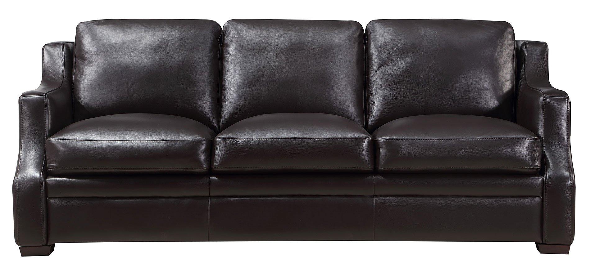 Grandview Leather Sofa (Espresso)