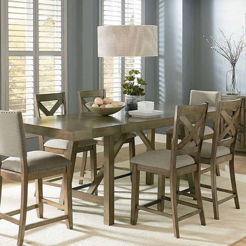 Omaha Counter Height Dining Table Grey Dining Room And