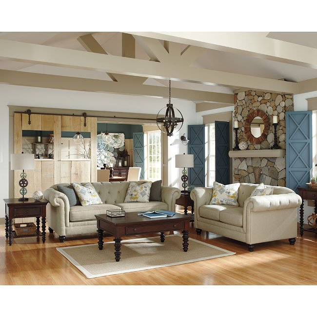 Ashley Furniture In Fresno Ca: Hindell Park Putty Living Room Set Signature Design By