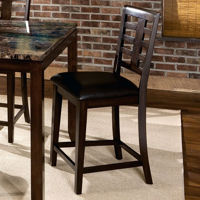 Bella 24 Inch Counter Height Stool Set Of 2 By Standard Furniture