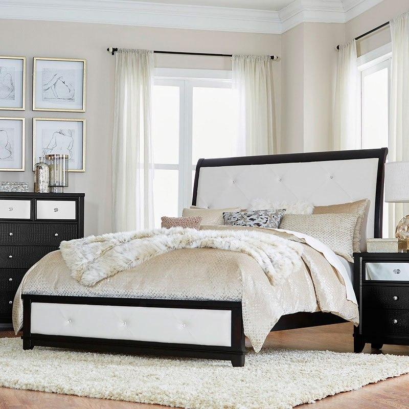 Odelia Sleigh Bedroom Set (Black) by Homelegance | FurniturePick