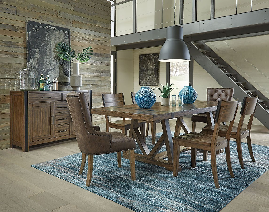 Nelson Dining Room Set W/ Upholstered Chairs