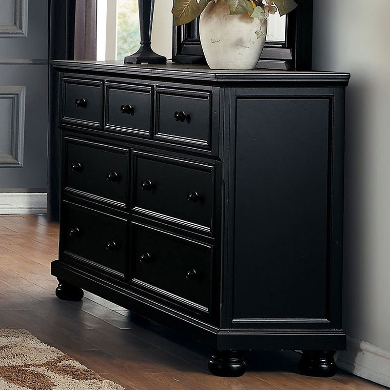 laurelin dresser black bedroom furniture bedroom 10848 | 1714bk 5 dresser 1