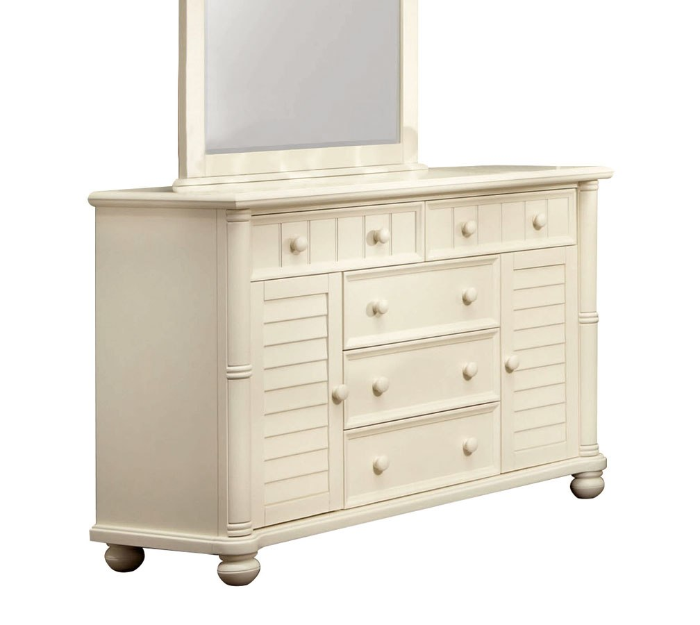 Beachfront Panel Bedroom Set (Cottage White) by Cottage ...