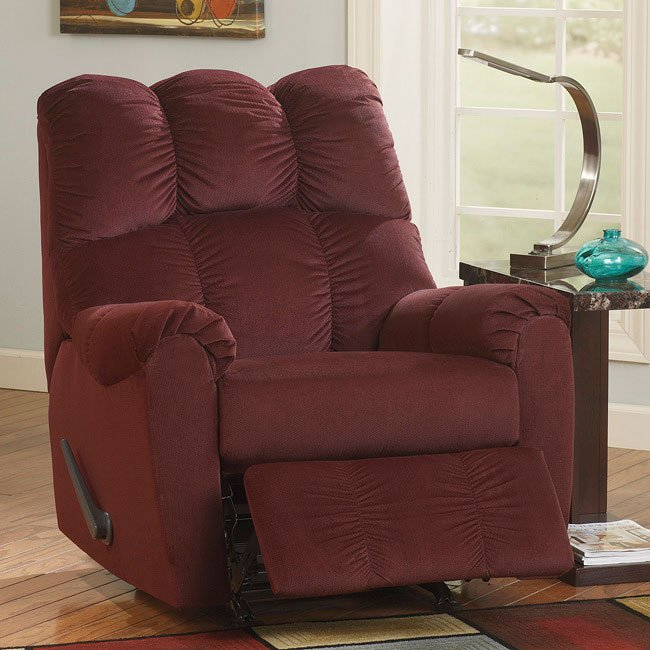 Raulo Burgundy Rocker Recliner By Signature Design By