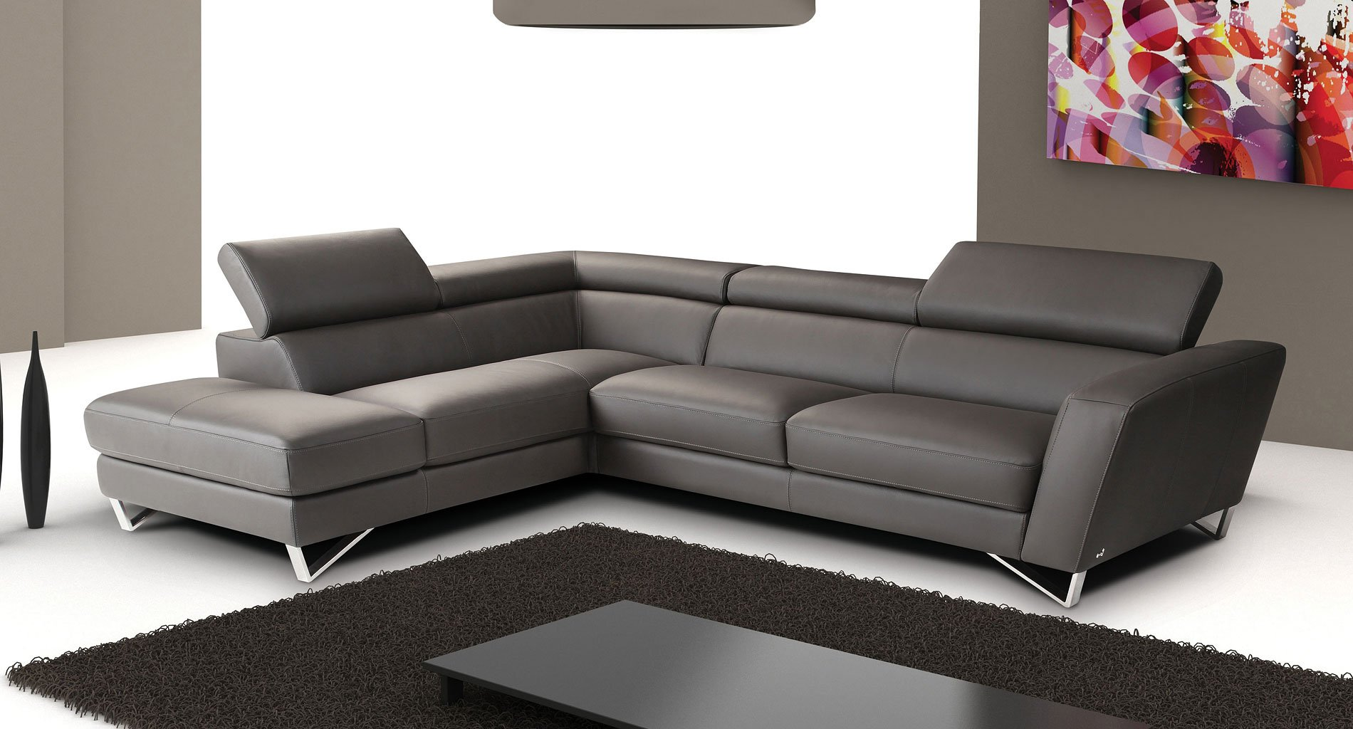 Sparta Leather Left Chaise Sectional (Gray) by JM ... on Sparta Outdoor Living id=56131