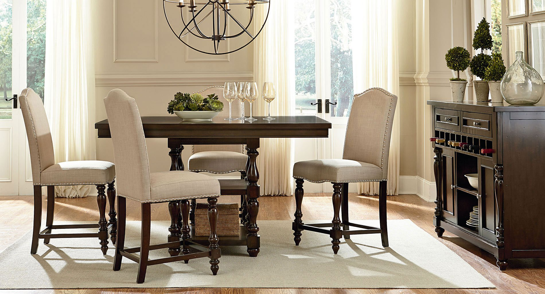 Mcgregor counter height dining room set casual dining for Informal dining room sets