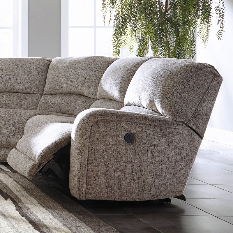 Pittsfield Fossil Power Reclining Modular Sectional Set By
