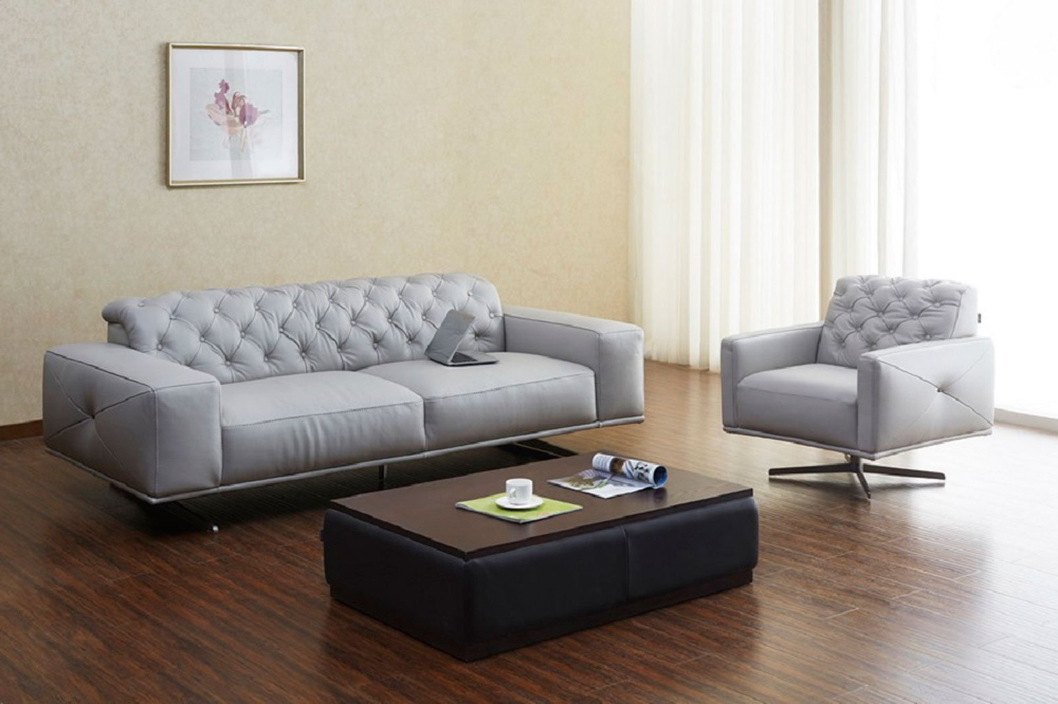 Grey Recliners In Living Room