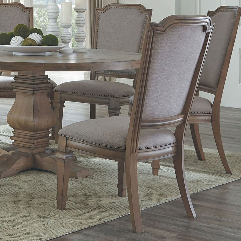 Florence Round Dining Room Set w/ Vintage Chairs