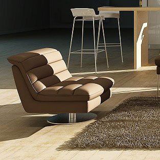 Gentil Astro Swivel Chair (Chocolate) By JM Furniture
