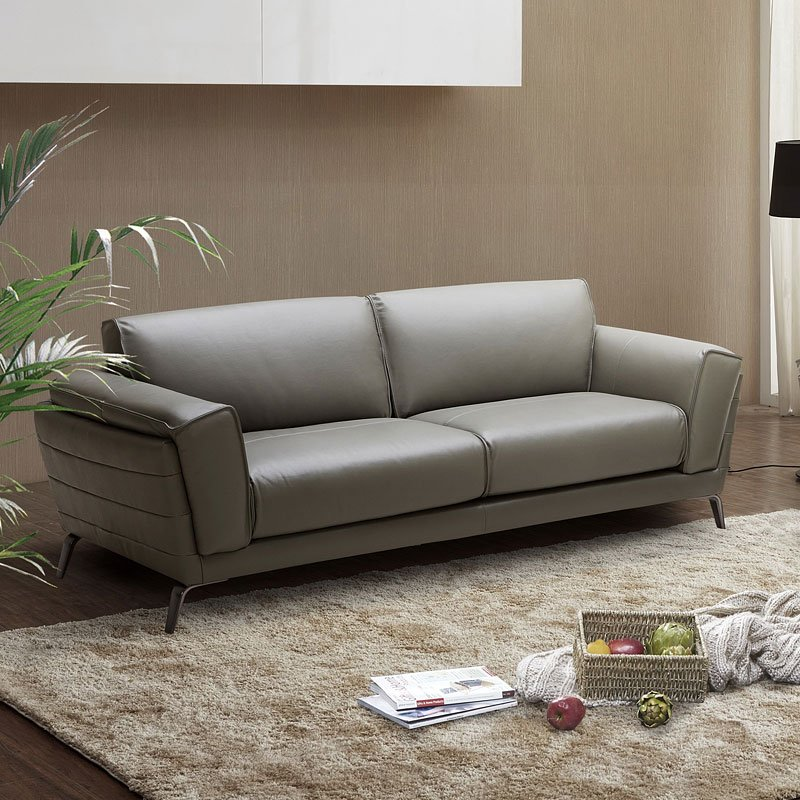 Berlin Italian Leather Sofa by JM Furniture | FurniturePick