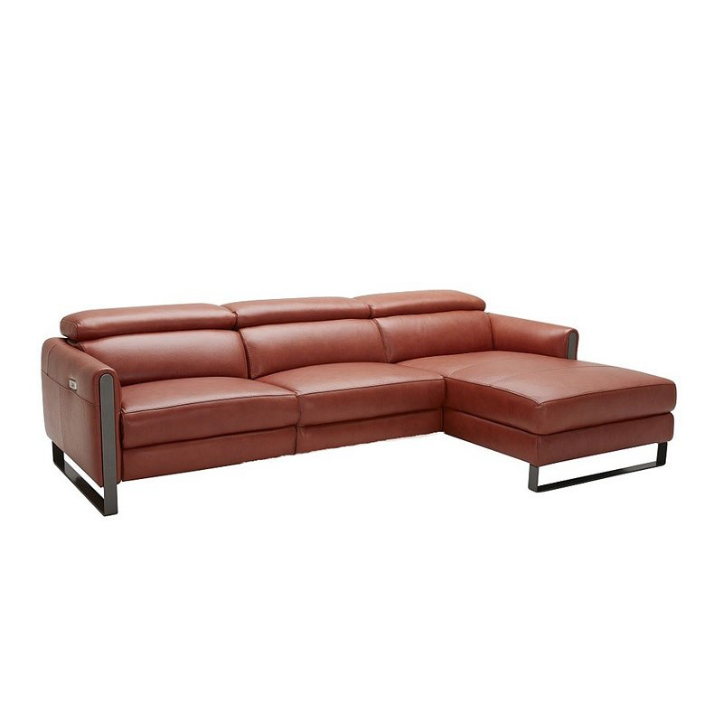 Nina Premium Leather Right Chaise Sectional By Jm Furniture Furniturepick