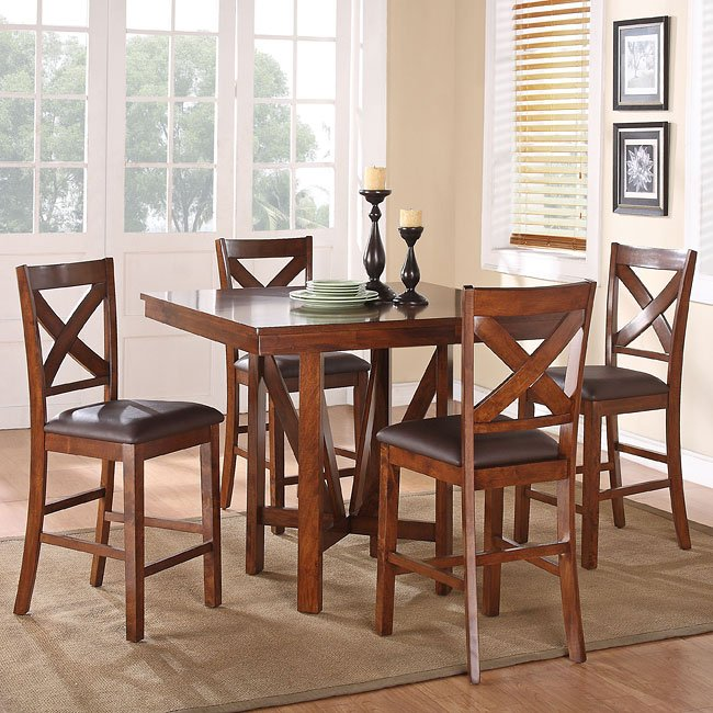 Standard Furniture Pendleton 5 Piece Dining Room Set In: Sundance 5-Piece Counter Height Dining Room Set By