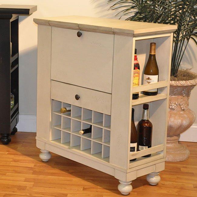 Nantucket Spirit Bar Cabinet Antique White