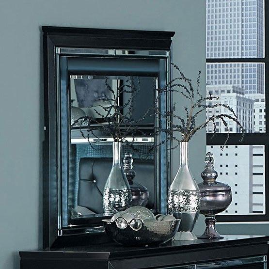 Black Light Bedroom: Allura Panel Bedroom Set W/ Lighting (Black) By