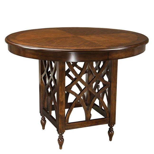 Standard Furniture Cosmo Adjustable Height Round Wood Top: Woodmont Counter Height Dining Room Set By Standard