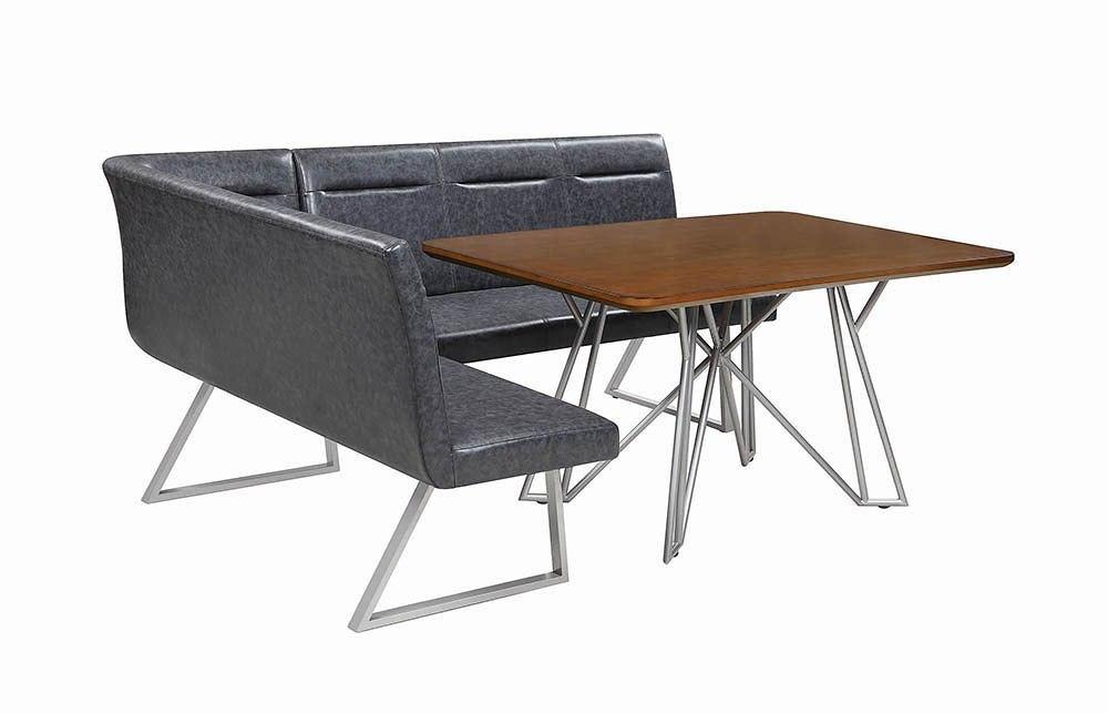 ramsey left facing l shaped corner dining set by coaster furniture furniturepick. Black Bedroom Furniture Sets. Home Design Ideas