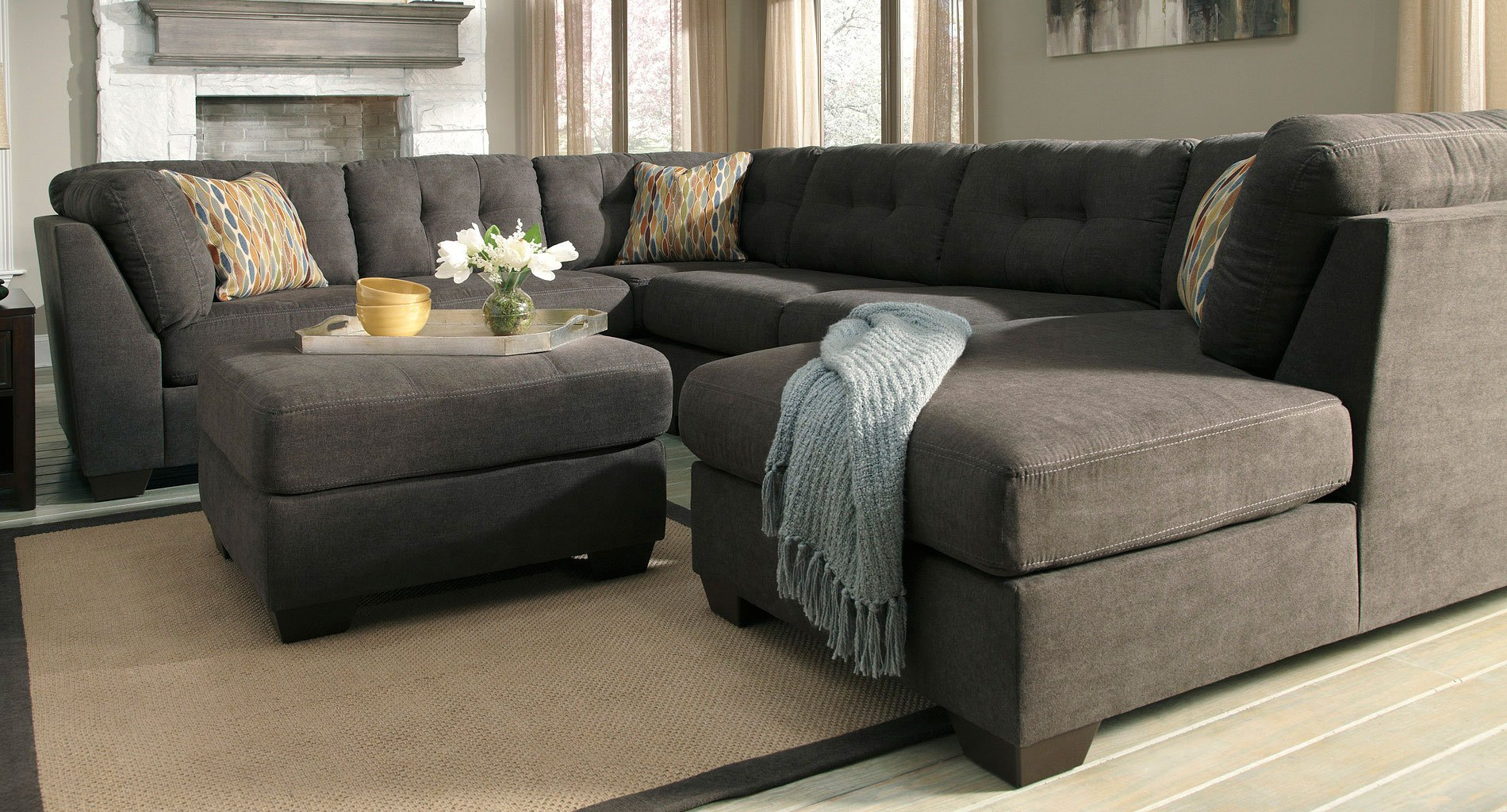 Delta City Steel Sectional Set