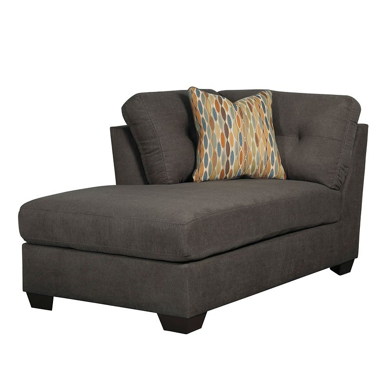 Delta City Steel Right Chaise Sectional By Benchcraft 1